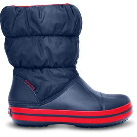 Crocs Winter Puff Stivali Bambino, blu/rosso